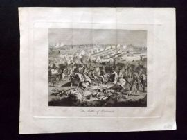 J. Pass after Godefroy 1797 Military Print. Battle of Oudenarde. Belgium
